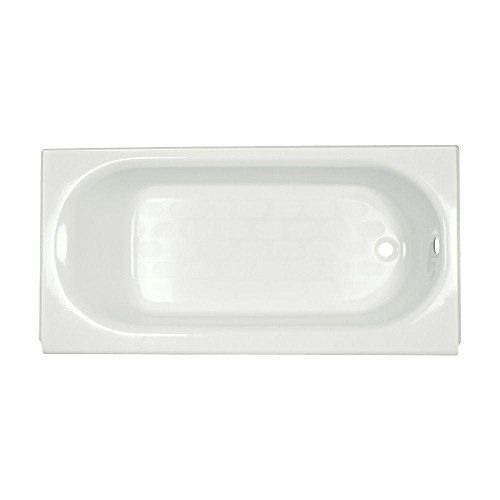 American Standard 2393.202.020 Princeton Recess 5-Feet by 30 Inch Right-Hand Drain Americast Bathtub with Integral Apron, White (American Standard Cast Iron Tub)