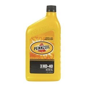 Pennzoil Hd Motor Oil Sg Sae 40w Qt.