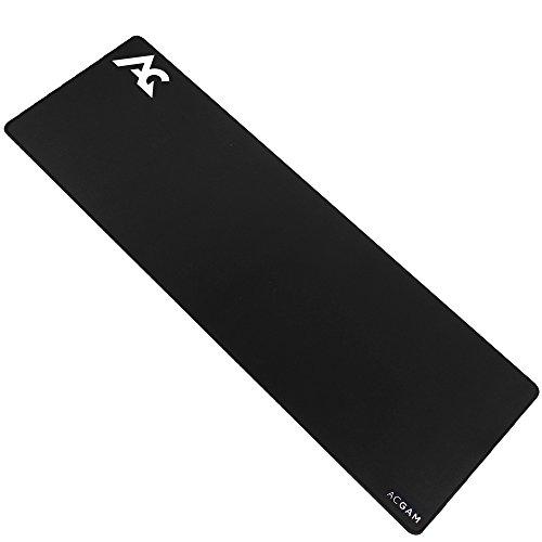 ACGAM P07 XXL Alfombrilla Ratón de Gaming Negra 900 mm x 300 mm x 4mm,Compatible con Ratón Láser y Óptico, Resistente al...