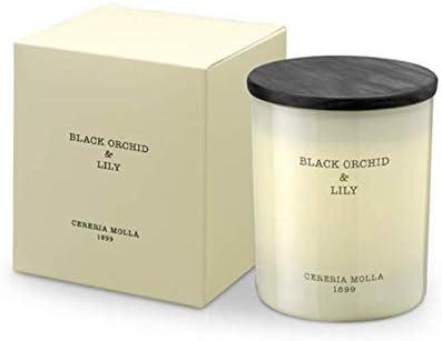 Cerer/ía Moll/á 1899 //-50 horas Artepal Aromaterapia Vela arom/ática Black Orchid /& Lily