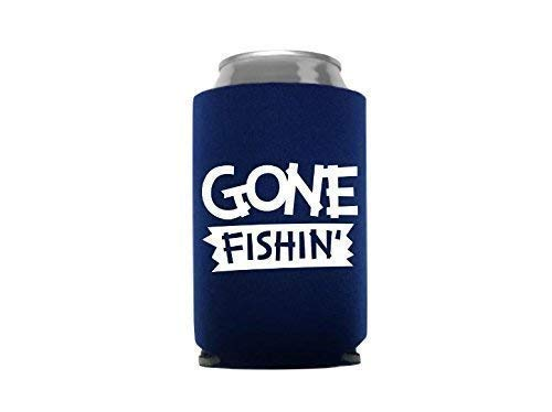Blue Fishing Gear Gifts for Men Can Cooler Beer Sleeve