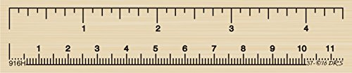 Ruler Stamp (Ruler Rubber Stamp by DRS Designs Rubber Stamps)
