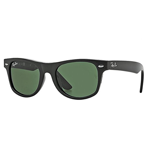 Ray-Ban Junior Girl's Junior Wayfarer 0RJ9035S Wayfarer Sunglasses, black, 44 - Ray Ban Baby Sunglasses
