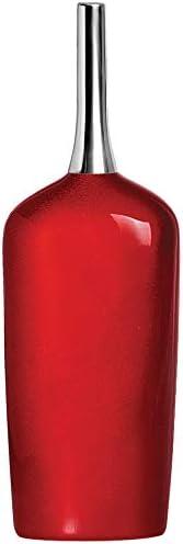 Vaso Primicia Com Aluminios Ceramicas Pegorin Vermelho No Voltagev