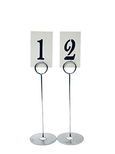 Buy Cheap Hot Sale Place Card Holder 8.6 Inch Table Number Card Holders Table Picture Photo Holder Stand Memo Holder Clips Menu Note Nam Office & School Supplies