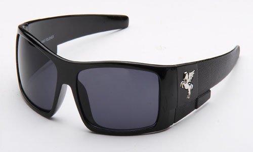 stylish glasses for men  Amazon.com: Pegasus Mens Plastic Wrap Around Sunglasses in Black ...