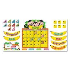 Monkey Mischief Calendar Bulletin Board Set 18 1/4 X 31 100 Pieces By Trend
