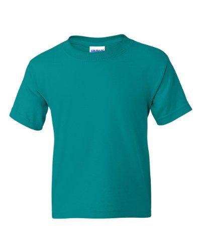 Gildan Youth 5.6 oz 50/50 Short Sleeve T-Shirt in Jade Dome - Medium (10/12)