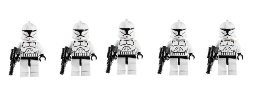 LEGO Star Wars Lot of 5 Clone Troopers Minifigures with Blaster Guns