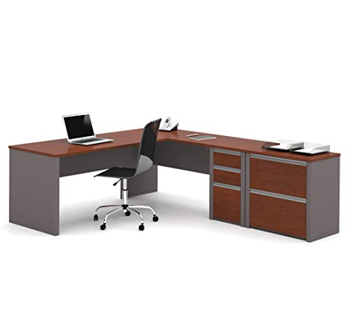 Bestar 2-Piece Set Including a L-Shaped Desk and a lateral File Cabinet - Connexion