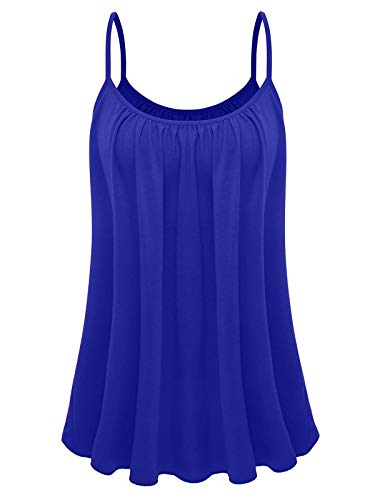 7th Element Womens Plus Size Cami Basic Camisole Tank Top (Royal Blue,1XL) ()