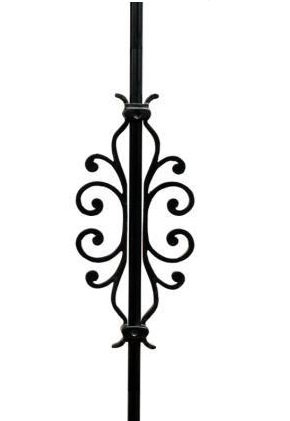 American Heritage Baluster Center Piece - Black Smooth