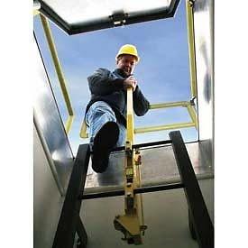 Bilco Yellow Powder Coated Steel Ladder Safety Post --P#EWT43 65234R3FA62052