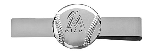 MLB Miami Marlins Engraved Tie Bar