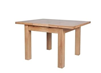 Devonshire Square Extending Dining Table Solid Oak Amazon Co Uk