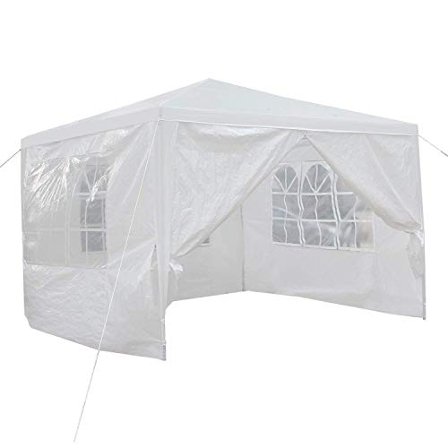 HomGarden 10'x10' Outdoor Canopy Tent Patio Camping Gazebo Storage Shelter Pavilion Cater Party Wedding BBQ Events Tent w/Removable ()