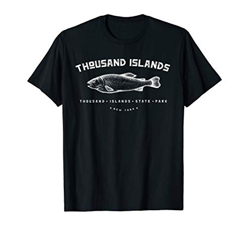 Thousand Islands State Park Fishing in New York Camping Tee T-Shirt
