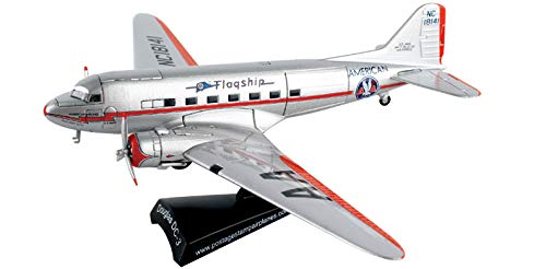 Daron Postage Stamp PS5559-2 American Airlines Douglas DC-3 Flagship Tulsa 1:144 Scale Diecast Display Model With (144 American Airlines)