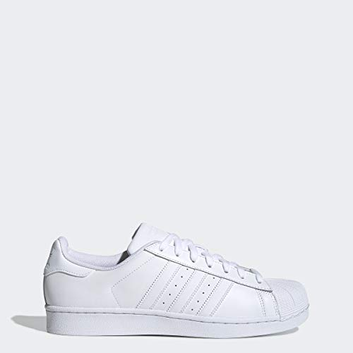 adidas Originals Men's Superstar Sneaker, White/White/White, 10