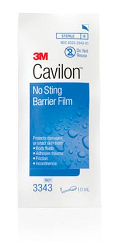 - 3M Cavilon No Sting Barrier Film 3343, 100 Applicators (4 Packs of 25)