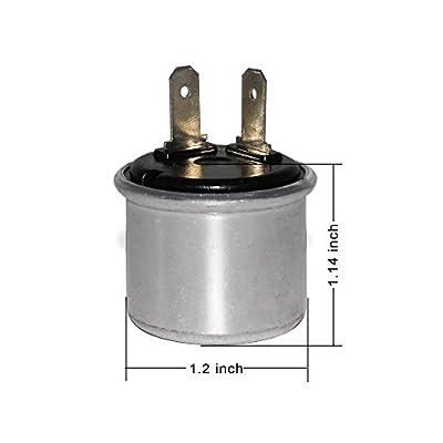 Alla Lighting 12V Heavy Duty 2 Pin Electronic LED Compatible Turn Signal Flasher Relay- Fits Motors Turn Signal & Hazard Warning: Automotive
