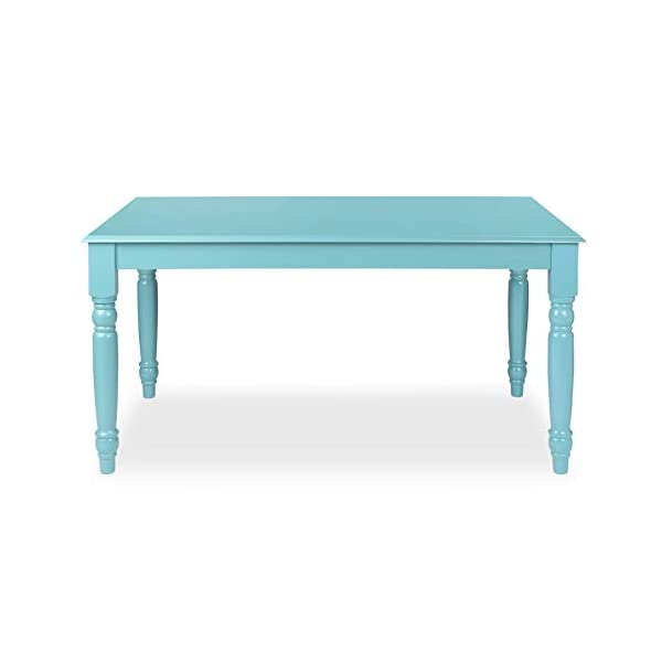 Kate and Laurel Turin Wood Dining Table with Farmhouse Legs – Easy-Build Work Desk