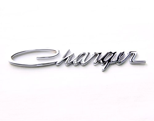 Charger Decal (Yoaoo® 1x Chrome OEM Original Charger Nameplate Emblem Badge Decal for Dodge Charger Chrysler Mopar Chrome Finish (Chrome x1))
