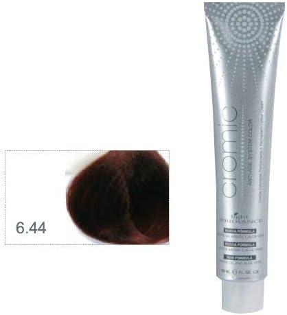 Light Irridiance Cromic 6.44 Rubio oscuro cobre intenso 100mL - Tinte crema colorante permanente para el cabello | Anti-age System Color | Aceite de ...