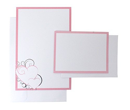 WILTON 50-Count Invitation Kit - Pink Bubble Heart 1008-1618