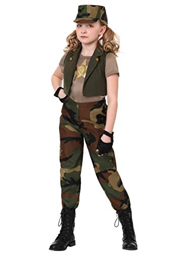 Girls Military Commander Costume Large