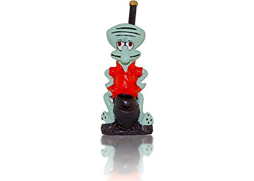 (Handmade Tobacco Pipe Spongebob Hand Painted Art Collectible (Squidward))