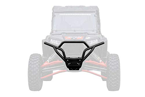 SuperATV Heavy Duty Front Bumper for Polaris RZR XP 1000 / XP 4 1000 (2014-2018) - Wrinkle Black
