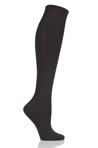 Ladies 1 Pair Falke Soft Merino Wool Knee High Socks Brown 37-38
