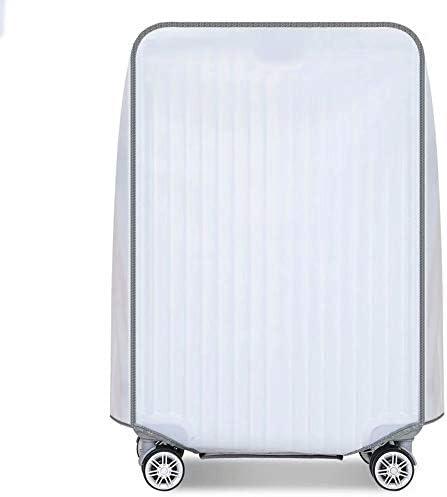 スーツケースカバープロテクター 防水防塵スクラッチプルーフトロリーケースカバー 透明PVCラゲッジプロテクター 出張旅行学校にぴったり毎日使用(半透明) Translucent 18 Inch