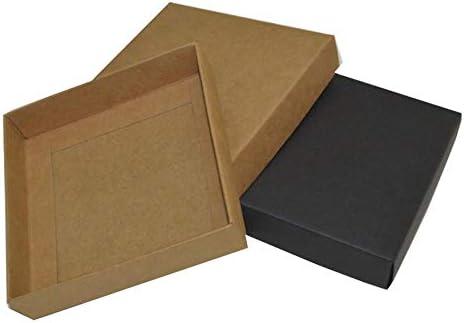 Caja de Regalo de cartón Grande, 10 Unidades, Caja de cartón pequeña, Caja de cartón con Tapa, Cajas de Papel Blanco y Negro para Embalaje, White Color, 21x15x5cm: Amazon.es: Hogar