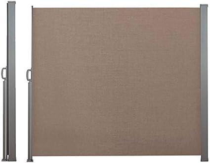 IDMarket Biombo retráctil de 300 x 200 cm, estor gris lateral ...