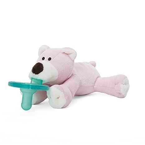 Amazon.com: Wubbanub Rosa Oso infantil Chupete: Baby