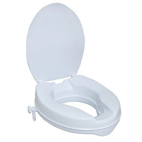 NRS Healthcare N05289 Stanton Raised Toilet Seat ? with lid (Eligible for VAT relief in the UK) by NRS Healthcare