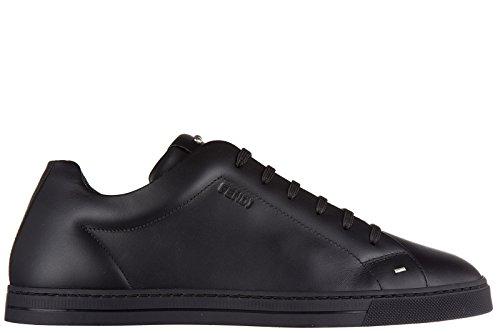 Fendi chaussures baskets sneakers homme en cuir noir