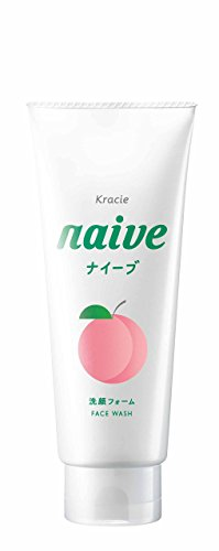 KRACIE NAIVE FACIAL CLEANSING FOAM PEACH, 130G