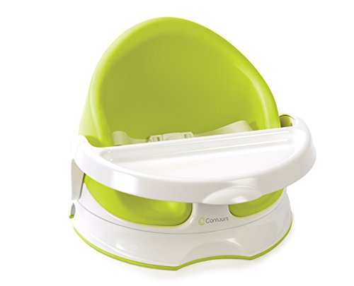 - Contours Twist Grow with Me 3-in-1 Floor, Booster and Feeding Seat -180° Swivel, Removable Foam Seat, Wipe Clean Feeding Tray and 3-Point Harness System, Lime