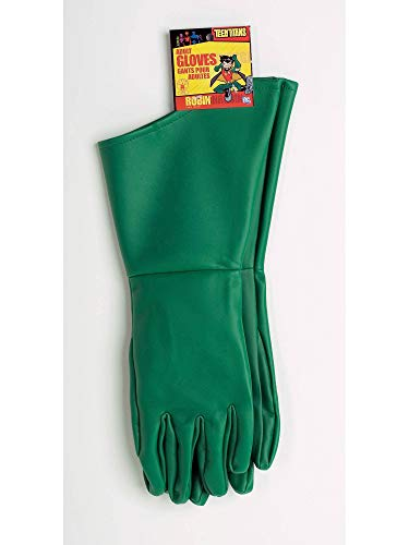 Rubie's Men's Teen Titans Robin Adult Gloves, Green, One -