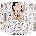 Lady Up 6 PCS Face Jewels Tattoo Set Mermaid Gem Rhinestones Eyes Body Stickers Bindi Crystals Glitter for Rave Party Festival