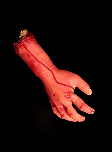 Anleolife Halloween Body Props Bloody Severed Chopped Off Fake Body Parts Scary Tricky Gift Prop Cospaly (bloody hand (Cotton Candy Halloween Prop)