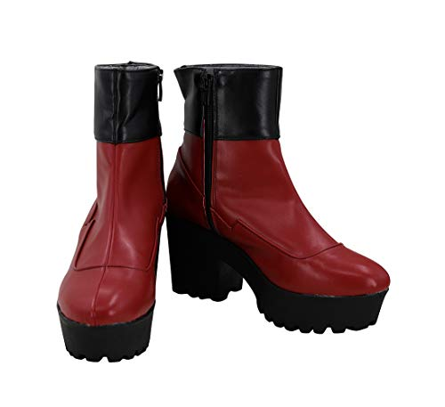 ALLTEN Carol Danvers Slope heel Platform Heels Wedge Boots Booties Shoes Cosplay (8 M US Female)