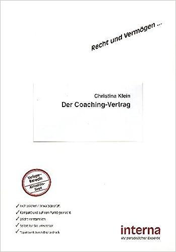 Der Coaching Vertrag Recht Und Vermögen Amazonde Christina