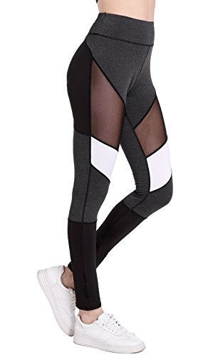 workout Products : Benta High Waist Fitness Yoga Sport Pants Printed Stretch Point Leggings FBA