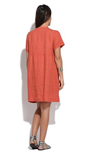 Lin Femme Robe Printemps Rouille Et Collection Couleur vBdExPqwv
