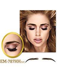 Vlasy One Pair Women's Handmade False Eyebrows PU Base Human Hair Fake Eye Brows(EM-787-3#)
