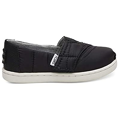 TOMS Kids Black Quilted Tiny Classics 10012566 (Size: 11)